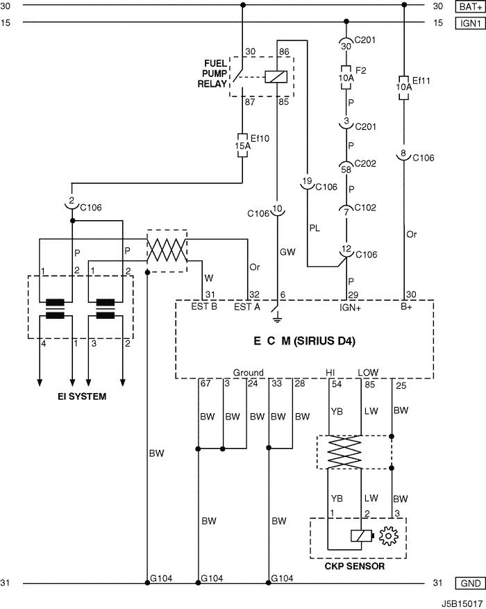 electrical wiring diagram 2006 nubira-lacetti 4. ecm (engine ...  mylacetti.ru
