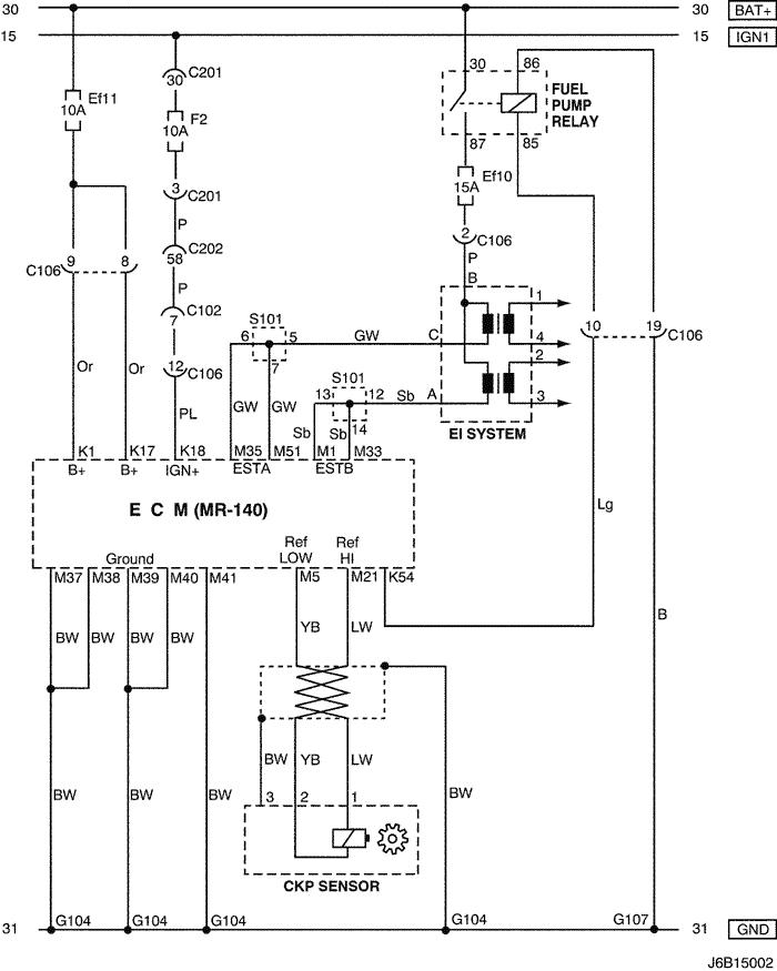 electrical wiring diagram 2006 nubira-lacetti 2. ecm (engine ...  mylacetti.ru