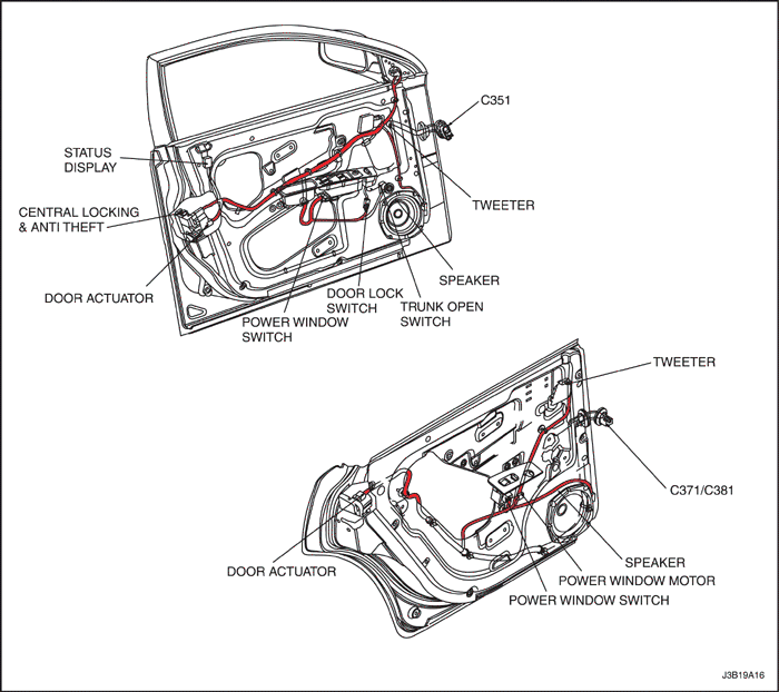 2006 Nubira Lacetti Body Wiring System