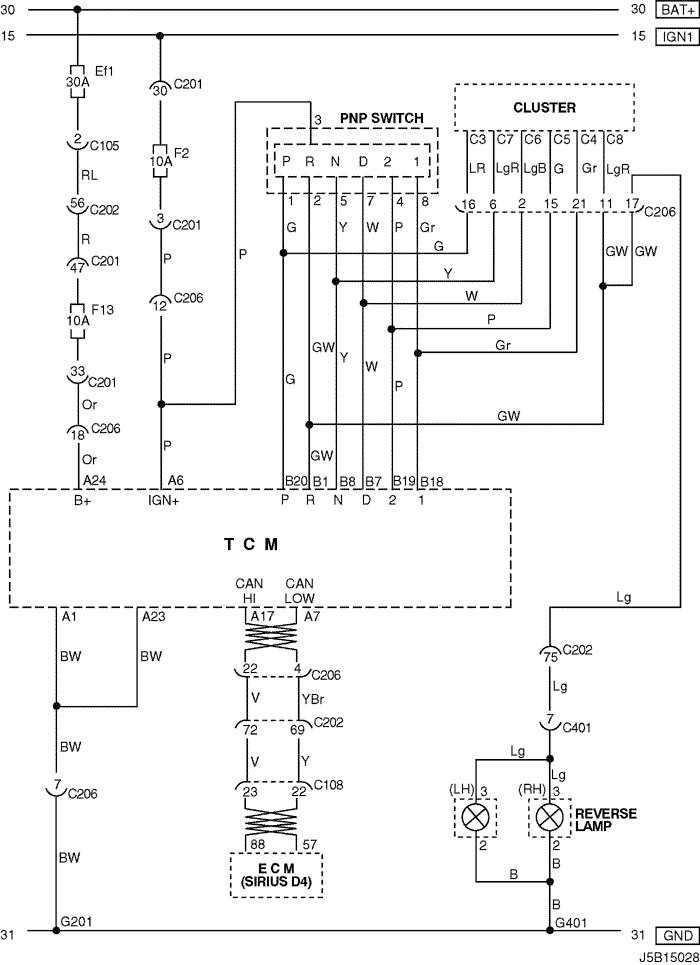 j5b15028 electrical wiring diagram 2006 nubira lacetti 6 tcm (transmission daewoo lacetti wiring diagram at crackthecode.co