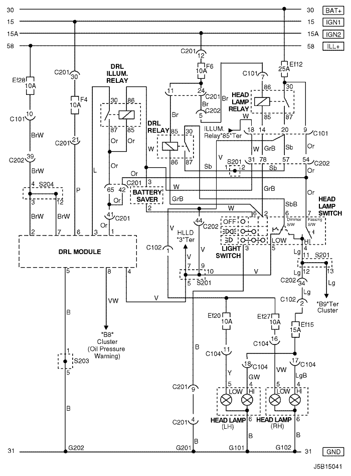 j5b15041 electrical wiring diagram 2006 nubira lacetti 11 drl (day time daewoo lacetti wiring diagram at crackthecode.co